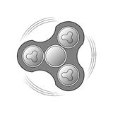 Hand spinner. Vector image of a rotating product. Logo for mobile application, website design. Royalty Free Stock Photo