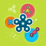 Hand spinners banner and leaflet Stock Image