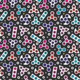 Hand Spinners icons Seamless pattern Royalty Free Stock Photo