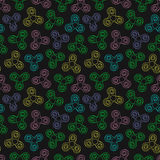Hand Spinners Seamless pattern Royalty Free Stock Images
