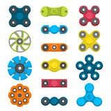 Different colored spinners Royalty Free Stock Image