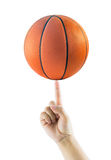 Hand Spinning Basket Ball or Basketball Royalty Free Stock Photography