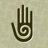 Hand with spiral symbol Stock Image