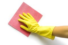 Hand with sponge Royalty Free Stock Photos