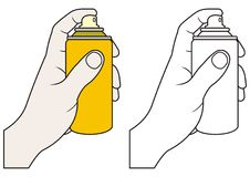 Hand with spray Stock Photo