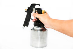 Hand and spray gun Royalty Free Stock Images