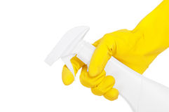 Hand with sprayer Royalty Free Stock Photo
