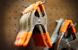 Hand Spring Clamps Stock Image