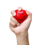 Hand squeezing a stress ball Stock Photography