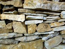 Hand stacked Rock Wall texture! Royalty Free Stock Photography