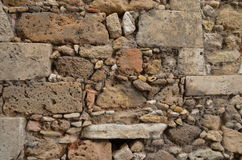 Hand-stacked stone wall Stock Image