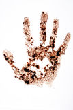 Hand stain Royalty Free Stock Photography