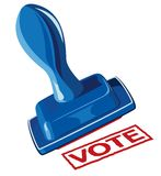 Hand and stamp vote Royalty Free Stock Photography