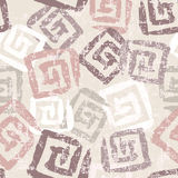 Hand stamped textured retro seamless pattern in pastel tones Royalty Free Stock Images