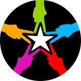 Hand star Stock Image