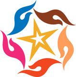 Hand star logo Stock Photo