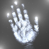 Hand in the Stars Royalty Free Stock Photo