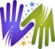 Hand stars Royalty Free Stock Images