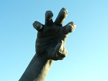 Hand statue. Photo of a isolated close up shot of a hand of a statue stock image