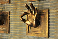 Hand statue Stock Images