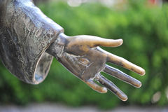 Hand of a statue Stock Images