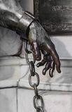 Hand of the statue of Friedrich Wilhelm near the castle Charlott Royalty Free Stock Photos