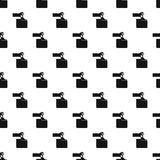 Hand stealing e-mail pattern, simple style Stock Images