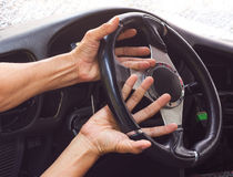 Hand steering arm accident. Stock Photography