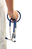 Hand with stethoscope Royalty Free Stock Photo