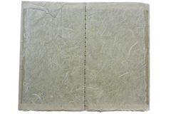 Hand stitch book; fibrous, wide view Stock Photos