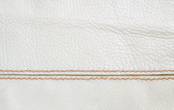 Hand stitching leather background Royalty Free Stock Images