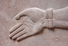 Hand in Stone Royalty Free Stock Photos