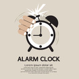 Hand Stop Alarm Clock. vector illustration