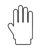 hand stop isolated icon design Stock Photography