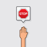 Hand Stop Sign Stock Image