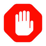 Hand stop sign Royalty Free Stock Image