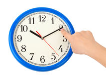 Hand stop time Royalty Free Stock Photos