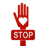 Hand with stop stock photography