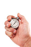 Hand with stopwatch Royalty Free Stock Photos