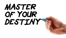 Hand Strategy Master Of Your Destiny Royalty Free Stock Photos