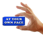 Hand Strategy At Your Own Pace Stock Photo