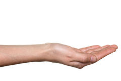 Hand stretched for begging Stock Photography