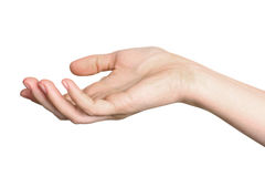 Hand stretched for begging Stock Photo