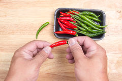 Hand striped Red Hot Chili Peppers Royalty Free Stock Photo
