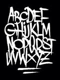 Hand style graffiti font alphabet. Vector Stock Photos