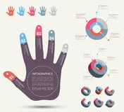 Hand-style info graphic. Royalty Free Stock Photo