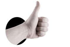 Hand success sign Stock Images