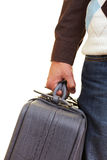 Hand with suitcase Stock Photo