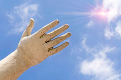 Hand and Sun Stock Images