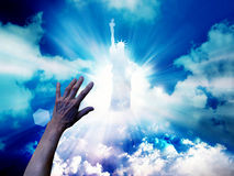 Hand on sunlight background Royalty Free Stock Photography